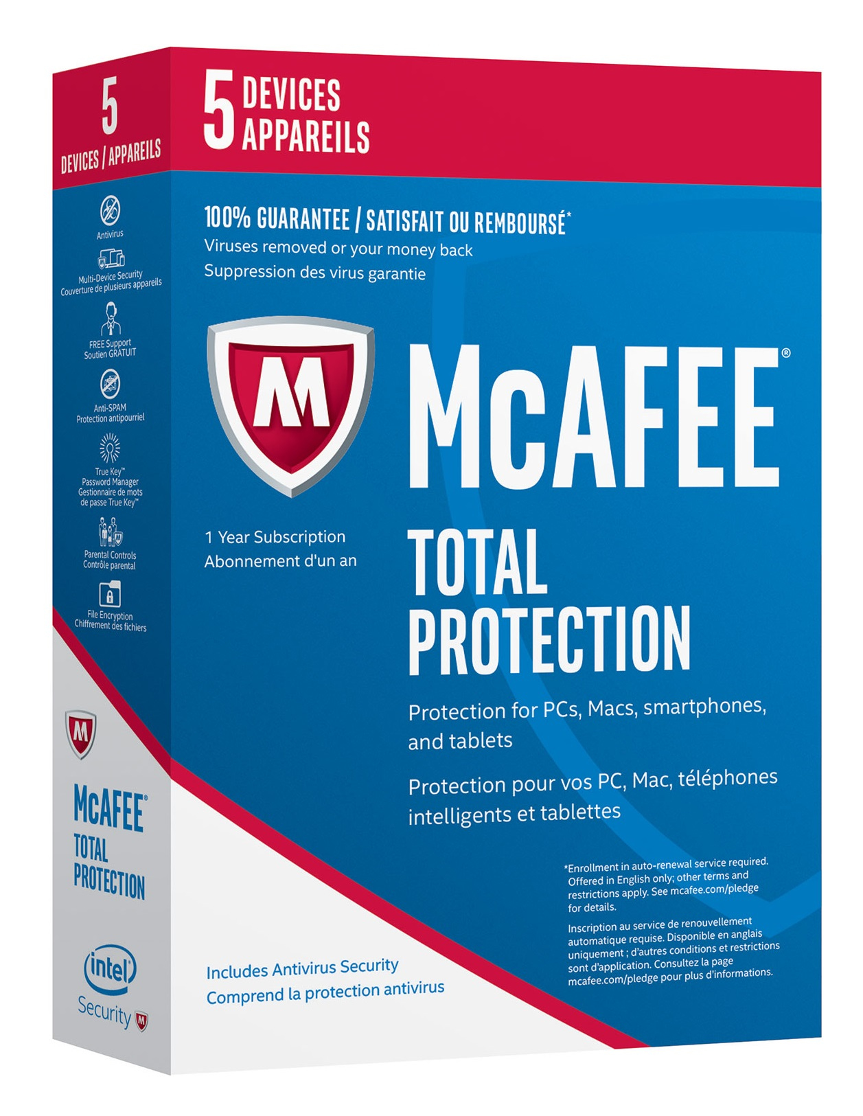 McAfee 2017 Total Protection 5 D