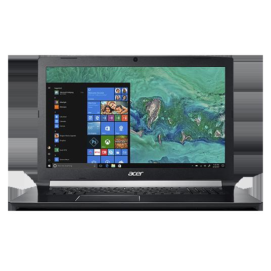 """Acer Aspire7 17.3""""FHD I7-8750 16GB 256SSD+1TB GTX1060-6 W10"""