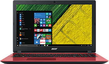 "ACER ASPIRE 3 15.6""FHD I3-7020U 4GB 256SSD Win10 Red"