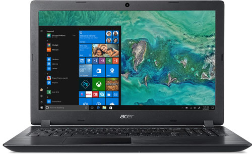 """Acer Aspire3 15.6""""FHD A9-9420 8GB 256SSD Obsidian Black W10"""